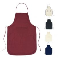 100% Cotton Plain Apron - With Front Pocket